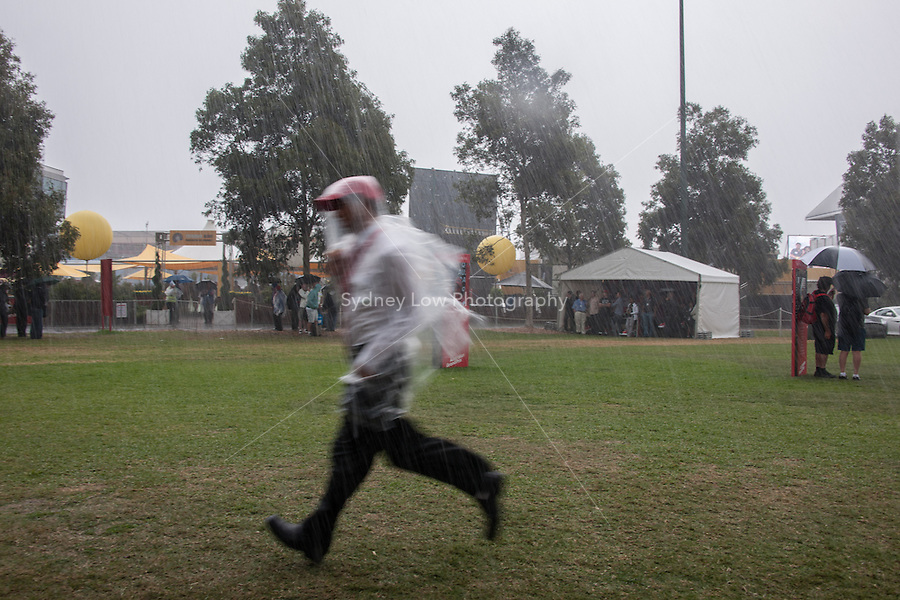 MELBOURNE, 16 March - A downpour delays the start of free practise session two of the the 2012 Formula One Australian Grand Prix at the Albert Park Circuit in Melbourne, Australia. (Photo Sydney Low / syd-low.com)