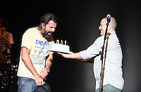MIAMI, FL - OCTOBER 11: Pau Dones of Jarabe de Palo celebrates his birthday during a concert at the Miami Dade County Auditorium in Miami, Florida. October 11, 2012. © Majo Grossi/MediaPunch Inc. /NortePhoto