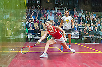 Raneem El Welily (EGY) vs. Laura Massaro (ENG) in the women's finals of the 2014 METROsquash Windy City Open held at the University Club of Chicago in Chicago, IL on March 3, 2014