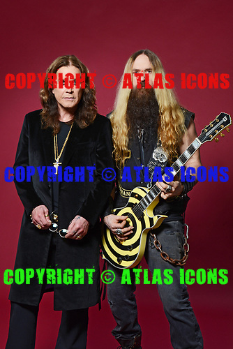 OZZY OSBOURNE ZAKK WYLDE, STUDIO SESSION, HOLLYWOOD, CA, OCTOBER 19, 2017 WILLIAM HAMES ATLASICONS