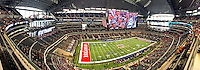STAFF PHOTO BEN GOFF  @NWABenGoff -- 09/27/14  A panoramic view inside AT&T Stadium in Arlington, Texas before the Southwest Classic between Arkansas vs Texas A&M on Saturday September 27, 2014.