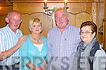 Celebrating their 30th wedding anniversary was Helen and Liam Lenihan(centre) from Ashford, Co Limerick, pictured here with Dan and Kitty Clifton in Leen's Hotel, Abbeyfeale last Saturday night..063-84066.++couple requested for picture++