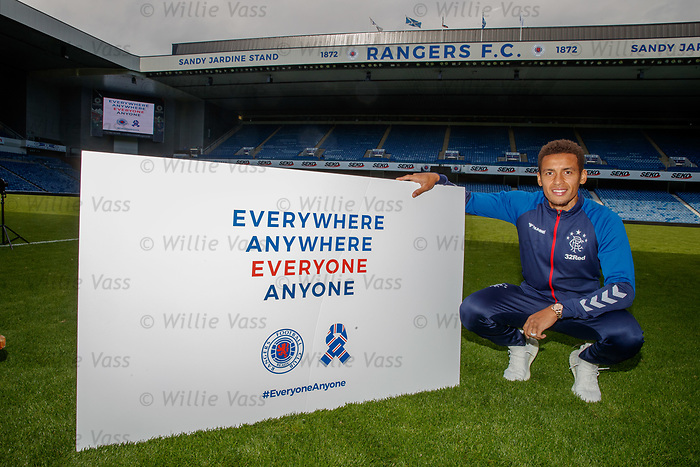 22.07.2019 Rangers launch diversity and inclusion campaign 'Everyone, Anyone'  at Ibrox today. Captain James Tavernier