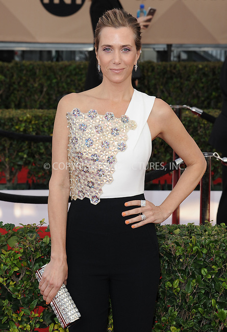 WWW.ACEPIXS.COM<br /> <br /> January 30 2016, LA<br /> <br /> Kristen Wiig arriving at the 22nd Annual Screen Actors Guild Awards at the Shrine Auditorium on January 30, 2016 in Los Angeles, California<br /> <br /> By Line: Peter West/ACE Pictures<br /> <br /> <br /> ACE Pictures, Inc.<br /> tel: 646 769 0430<br /> Email: info@acepixs.com<br /> www.acepixs.com