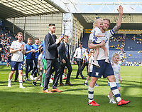 Preston North End's Tom Clarke waves to fans during a lap of the pitch<br /> <br /> Photographer Alex Dodd/CameraSport<br /> <br /> The EFL Sky Bet Championship - Preston North End v Burton Albion - Sunday 6th May 2018 - Deepdale Stadium - Preston<br /> <br /> World Copyright &copy; 2018 CameraSport. All rights reserved. 43 Linden Ave. Countesthorpe. Leicester. England. LE8 5PG - Tel: +44 (0) 116 277 4147 - admin@camerasport.com - www.camerasport.com
