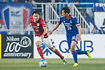 Suwon Midfielder Yeom Ki Hun (R) fights for the ball with Guangzhou Defender Wang Shangyuan (L) during the AFC Champions League 2017 Group G match Between Suwon Samsung Bluewings (KOR) vs Guangzhou Evergrande FC (CHN) at the Suwon World Cup Stadium on 01 March 2017 in Suwon, South Korea. Photo by Victor Fraile / Power Sport Images