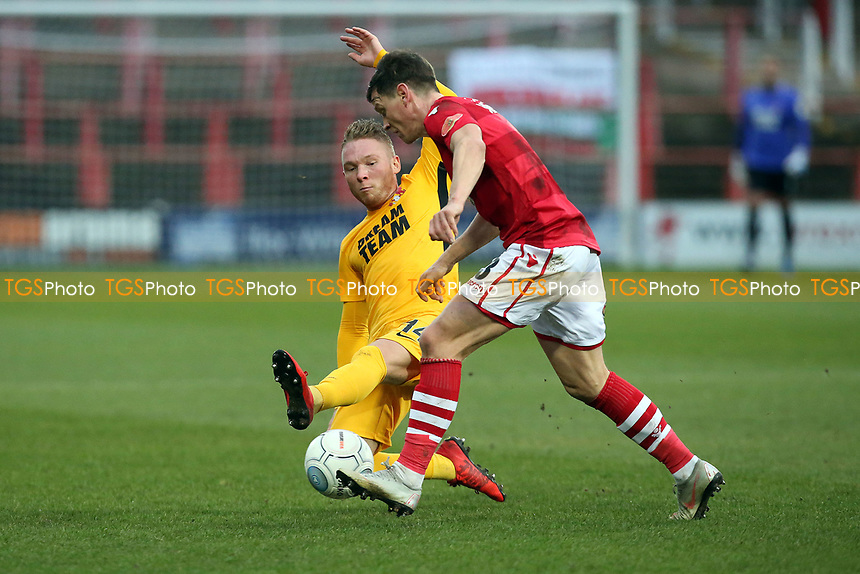 O's Myles Judd & Kevin ROberts during Wrexham vs Leyton Orient, Buildbase FA Trophy Football at the Racecourse Ground on 12th January 2019