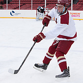 Luke McInnis (BC - 3) - The Boston College Eagles practiced on the rink at Fenway Park on Friday, January 6, 2017.