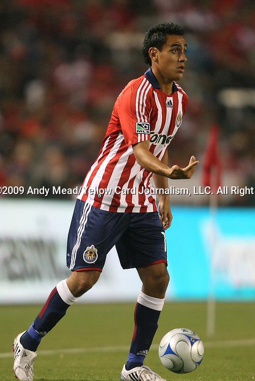 22 August 2009: Chivas USA's Jesus Padilla. CD Chivas USA played Toronto FC at the Home Depot Center in Carson, California in a regular season Major League Soccer game.