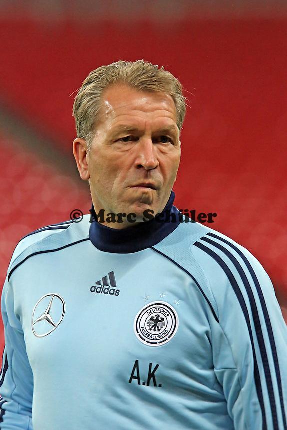 Torwarttrainer Andreas Köpke (D) - Abschlusstraining der Nationalmannschaft im Wembley Stadium