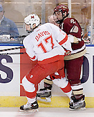 Nathan Davis, Stephen Gionta - The Boston College Eagles defeated the Miami University Redhawks 5-0 in their Northeast Regional Semi-Final matchup on Friday, March 24, 2006, at the DCU Center in Worcester, MA.