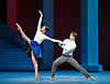 Bolshoi Ballet <br /> The Taming of the Shrew <br /> choreography by Jean-Christophe Maillot <br /> at The Royal Opera House, Covent Garden, London, Great Britain <br /> rehearsal of act 1<br /> 3rd August 2016 <br /> <br /> <br /> Nina Kaptsova as Bianca and <br /> Artem Ovcharenko as Lucentio <br /> <br /> <br /> <br /> Photograph by Elliott Franks <br /> Image licensed to Elliott Franks Photography Services