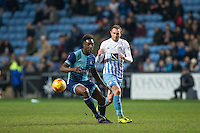 Anthony Stewart of Wycombe Wanderers & Stuart Beavon of Coventry City during the The Checkatrade Trophy - EFL Trophy Semi Final match between Coventry City and Wycombe Wanderers at the Ricoh Arena, Coventry, England on 7 February 2017. Photo by Andy Rowland.