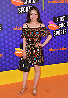 Maia Shibutani at the Nickelodeon Kids' Choice Sports Awards 2018 at Barker Hangar, Santa Monica, USA 19 July 2018<br /> Picture: Paul Smith/Featureflash/SilverHub 0208 004 5359 sales@silverhubmedia.com