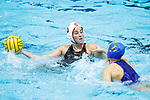 INDIANAPOLIS, IN - MAY 14: Jamie Neushul (8) of Stanford University in action against Kelsey O'Brien (11) of UCLA during the Division I Women's Water Polo Championship held at the IU Natatorium-IUPUI Campus on May 14, 2017 in Indianapolis, Indiana. (Photo by Joe Robbins/NCAA Photos/NCAA Photos via Getty Images)