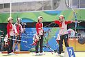 (L-R) Kaori Kawanaka, Saori Nagamine, Yuki Hayashi,  (JPN),<br /> AUGUST 7 2016 - Archery : <br /> Women's teaml final Round <br /> at Sambodromo <br /> during the Rio 2016 Olympic Games in Rio de Janeiro, Brazil. <br /> (Photo by Yusuke Nakanishi/AFLO SPORT)