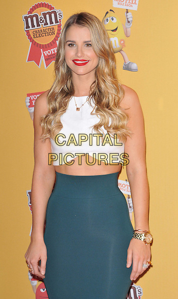 LONDON, ENGLAND - APRIL 14: Vogue Williams attends the M&amp;M's Character Election launch party, M&amp;M's World, Leicester Square, on Tuesday April 14, 2015 in London, England, UK. <br /> CAP/CAN<br /> &copy;Can Nguyen/Capital Pictures