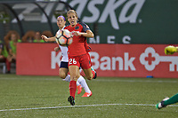 Portland, OR - Saturday July 22, 2017: Mallory Weber during a regular season National Women's Soccer League (NWSL) match between the Portland Thorns FC and the Washington Spirit at Providence Park.