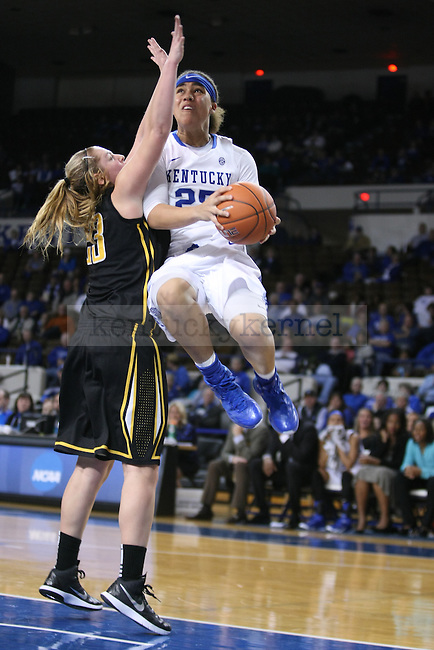 Makayla Epps (25) goes up for a layup during the second half of the women UK hoops vs. Northern Kentucky University at Memorial Coliseum. Wednesday, December 3, 2014 in Lexington. Photo by Joel Repoley | Staff