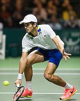 ABN AMRO World Tennis Tournament, Rotterdam, The Netherlands, 18 Februari, 2017, Pierre-Hugues Herbert (FRA)<br /> Photo: Henk Koster