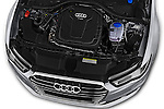 Car Stock 2016 Audi A6 - 4 Door Sedan Engine  high angle detail view