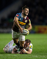 Harlequins' Danny Care in action during todays match<br /> <br /> Photographer Bob Bradford/CameraSport<br /> <br /> Aviva Premiership Round 20 - Harlequins v Exeter Chiefs - Friday 14th April 2017 - The Stoop - London<br /> <br /> World Copyright &copy; 2017 CameraSport. All rights reserved. 43 Linden Ave. Countesthorpe. Leicester. England. LE8 5PG - Tel: +44 (0) 116 277 4147 - admin@camerasport.com - www.camerasport.com
