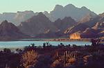 Baja, Mexico, Sierra Giganta mountain range, East coast of Baja Sur, Sea of Cortez, Gulfo California, Gulf of California,