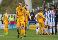 Preston North End's Paul Huntington looks dejected after the final whistle<br /> <br /> Photographer Alex Dodd/CameraSport<br /> <br /> The EFL Sky Bet Championship - Huddersfield Town v Preston North End - Friday 14th April 2016 - The John Smith's Stadium - Huddersfield<br /> <br /> World Copyright &copy; 2017 CameraSport. All rights reserved. 43 Linden Ave. Countesthorpe. Leicester. England. LE8 5PG - Tel: +44 (0) 116 277 4147 - admin@camerasport.com - www.camerasport.com