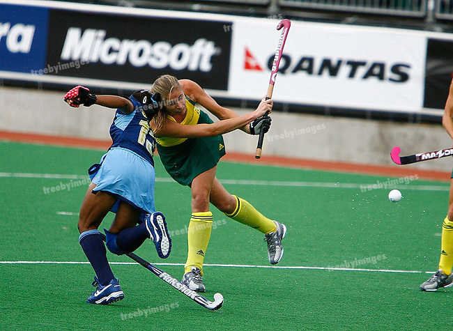 Commonwealth Games 2006 Womens Hockey, Aust v India 16/3/2006 Australia defeated India 4-2