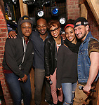"""J. Quinton Johnson, Brandon Victor Dixon, Syndee Winters, Sasha Hollinger and Roddy Kennedy attend The Rockefeller Foundation and The Gilder Lehrman Institute of American History sponsored High School student #EduHam matinee performance of """"Hamilton"""" at the Richard Rodgers Theatre on 3/15/2017 in New York City."""