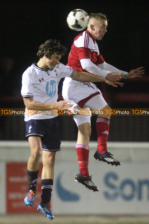 Tottenham Hotspur Youth vs Fulham Youth, FA Youth Cup tie at the London Borough of Barking and Dagenham Stadium - 30/01/14 - MANDATORY CREDIT: Dave Simpson/TGSPHOTO - Self billing applies where appropriate - 0845 094 6026 - contact@tgsphoto.co.uk - NO UNPAID USE