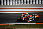 Moto GP race in Valencia in 2017 with Marc Marquez winner the third championship. Pedrosa winner the race.