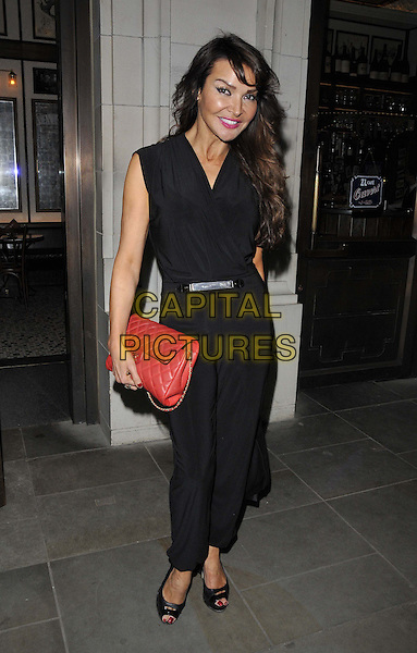 LONDON, ENGLAND - MARCH 04: Lizzie Cundy attends Patti Boulaye's new autobiographical show 1st night, The Crazy Coqs, Brasserie Zedel, Sherwood St., on Tuesday March 04, 2014 in London, England, UK.<br /> CAP/CAN<br /> &copy;Can Nguyen/Capital Pictures
