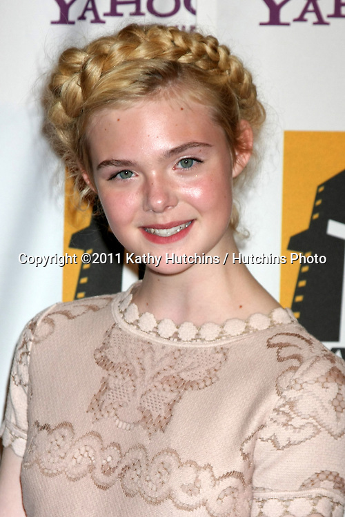 LOS ANGELES - OCT 24:  Elle Fanning arriving at the 15th Annual Hollywood Film Awards Gala at Beverly Hilton Hotel on October 24, 2011 in Beverly Hllls, CA