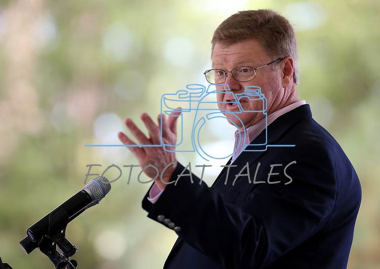 Rep. Mark Amodei, R-Nev., speaks at the 18th annual Lake Tahoe Summit at the Valhalla Estate in South Lake Tahoe, Ca., on Tuesday, Aug. 19, 2014. <br /> Photo by Cathleen Allison