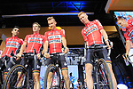 Lotto-Soudal team on stage at the Team Presentation in Burgplatz Dusseldorf before the 104th edition of the Tour de France 2017, Dusseldorf, Germany. 29th June 2017.<br /> Picture: Eoin Clarke | Cyclefile<br /> <br /> <br /> All photos usage must carry mandatory copyright credit (&copy; Cyclefile | Eoin Clarke)
