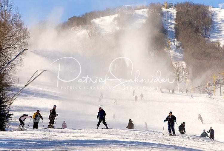 Snow skiing and snowboarding at Sugar Mountain Ski Resort in Banner Elk, North Carolina.