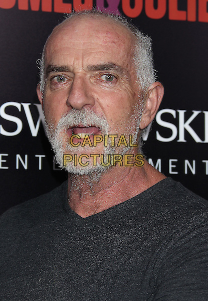 Andy McPhee<br /> &quot;Romeo &amp; Juliet&quot; Los Angeles Premiere held at Arclight Cinemas, Hollywood, California, USA.<br /> September 24th, 2013<br /> headshot portrait black t-shirt beard facial hair mouth open<br /> CAP/ADM/RE<br /> &copy;Russ Elliot/AdMedia/Capital Pictures
