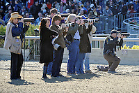 Scene from around the track on Wood Memorial Stakes day on April 07, 2012 at Aqueduct Race Track in Ozone Park, New York.  (Bob Mayberger/Eclipse Sportswire)