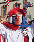 17 June 2006: An American fan. Italy played the United States at Fritz-Walter Stadion in Kaiserslautern, Germany in match 25, a Group E first round game, of the 2006 FIFA World Cup.