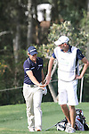Lorenzo Gagli (ITA) with his caddy after he chiped out of the bunker and into the hole on the 16th on Day 1 of the 2012 Open de Andalucia Costa del Sol at Aloha Golf Club, Marbella, Spain...(Photo Jenny Matthews/www.golffile.ie)