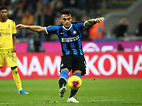 Calcio, Serie A: Inter Milano - Hellas Verona, Giuseppe Meazza stadium, November 9, 2019.<br /> Inter's Lautaro Martinez in action during the Italian Serie A football match between Inter and Hellas Verona at Giuseppe Meazza (San Siro) stadium, on November 9, 2019.<br /> UPDATE IMAGES PRESS/Isabella Bonotto