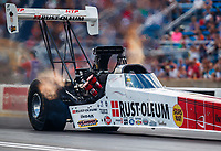 Jul 8, 2017; Joliet, IL, USA; NHRA top fuel driver T.J. Zizzo during qualifying for the Route 66 Nationals at Route 66 Raceway. Mandatory Credit: Mark J. Rebilas-USA TODAY Sports