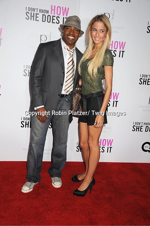 "Tiki Barber and Traci Lynn Johnson attending the premiere of "" I Don't Know How She Does It"" on September 12, 2011 at The Loews Lincoln Square in New York City"