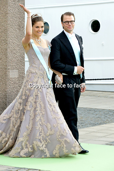 Crownprincess Victoria and husband prince Daniel. The royal wedding of Princess Madeleine of Sweden and Chris O'Neill in Stockholm, 08.06.2013.<br /> Credit: Wiese/Timm/face to face