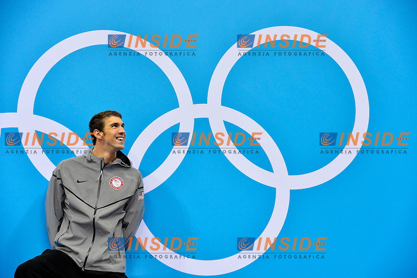 Michael Phelps Usa Gold Medal 100m Butterfly men..London 3/8/2012 Aquatics Center..London 2012 Olympic games - Olimpiadi Londra 2012..Swimming - Nuoto..Foto Andrea Staccioli Insidefoto