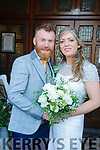 Paula Beecher, daughter of Seamus & Mary Beecher, Castlelyons, Co. Cork and Patrick O'Hanlon,son of Edward & Maureeen O'Hanlon, Tarbert who were married in St.Mary's Church, Listowel by Fr. Jimmy O'Hanlon on Saturday last. Best man  was John O'Hanlon and the groomsman was Seamus O'Hanlon. The bridesmaids were Louise & Deirdre Beecher. The flower girls were Scarlet & Sasha Beecher and the page boys were Michael Duffy & Tomas Beecher.The reception was held in the Listowel Arms Hotel.