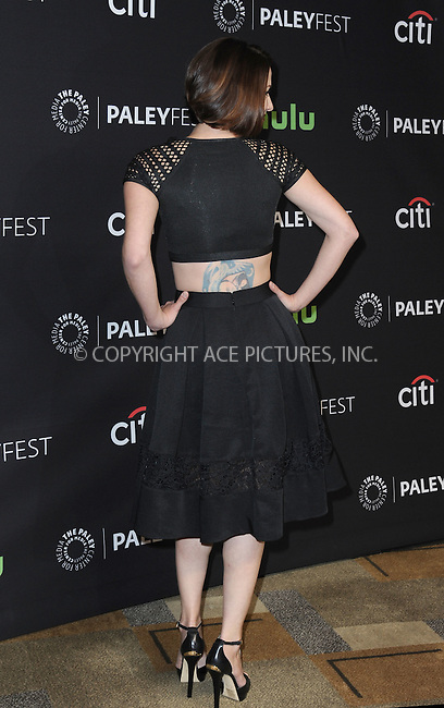 WWW.ACEPIXS.COM<br /> <br /> March 13 2016, LA<br /> <br /> Actress Chyler Leigh arriving at The Paley Center For Media's 33rd Annual PALEYFEST 'Supergirl' at the Dolby Theatre on March 13, 2016 in Hollywood, California.<br /> <br /> <br /> By Line: Peter West/ACE Pictures<br /> <br /> <br /> ACE Pictures, Inc.<br /> tel: 646 769 0430<br /> Email: info@acepixs.com<br /> www.acepixs.com