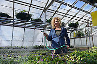 City of Sarnia greenhouses at Germain Park with Lance Allin and Jane Bastien.