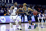 HIGH POINT, NC - JANUARY 06: Charleston Southern's Christian Keeling (11) and High Point's Jamal Wright (3). The High Point University of Panthers hosted the Charleston Southern University Buccaneers on January 6, 2018 at Millis Athletic Convocation Center in High Point, NC in a Division I men's college basketball game. HPU won the game 80-59.